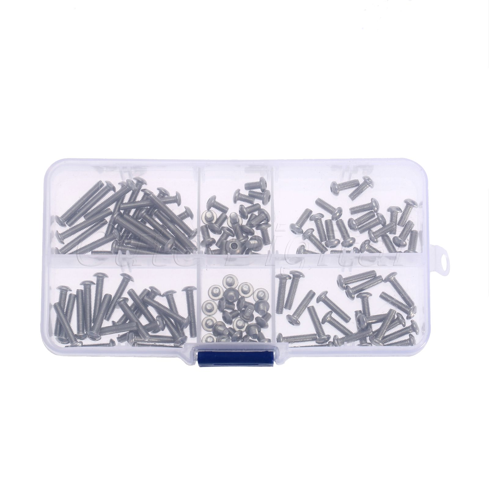 120Ps/Set 4/6/8/12/16/20mm M3 Stainless Steel Screw Hex Allen Wrench Button Head Bolt Socket Cap  Fasteners Assort Kit W/box
