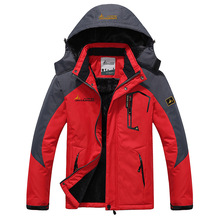 цены Men's Winter Inner Fleece Waterproof Jacket Outdoor Hiking Coat Thermal Windbreaker Hiking Camping Trekking Skiing Male Jackets