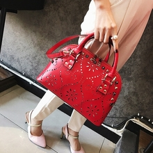 HANYUNA BRAND New Fashion Hollow-Out Design Women Shell Bags Luxury PU Leather Ladies Bags Up-to-date European Bags