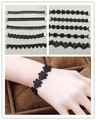 Modelos de Explosão quente Coreano Moda Simple Black Lace Oco Pulseira 2016 Estilo Vintage Charme Pulseiras Pulseiras Clássicos