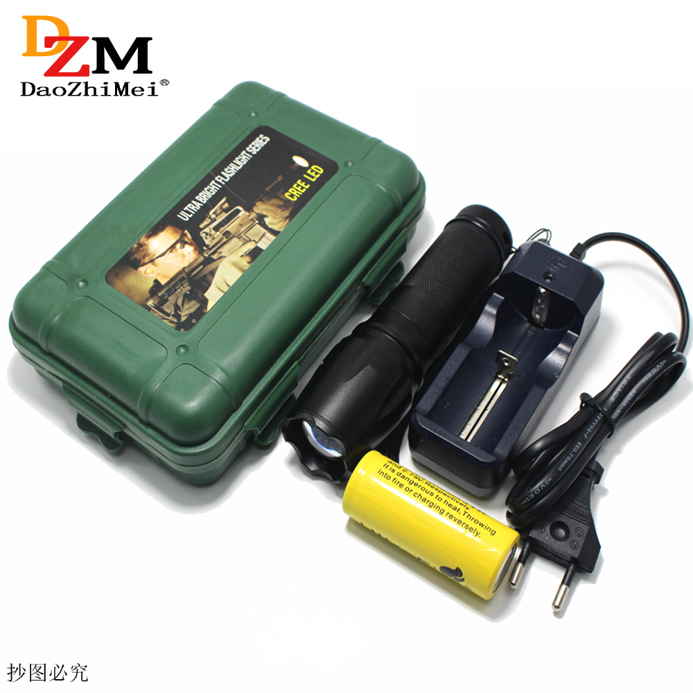 IR Zoomable zoom <font><b>Led</b></font> Flashlight Hunt IR <font><b>850NM</b></font> Infrared Light Night Vision Torch Rechargeable Lampe Torch +26650 Battery charger