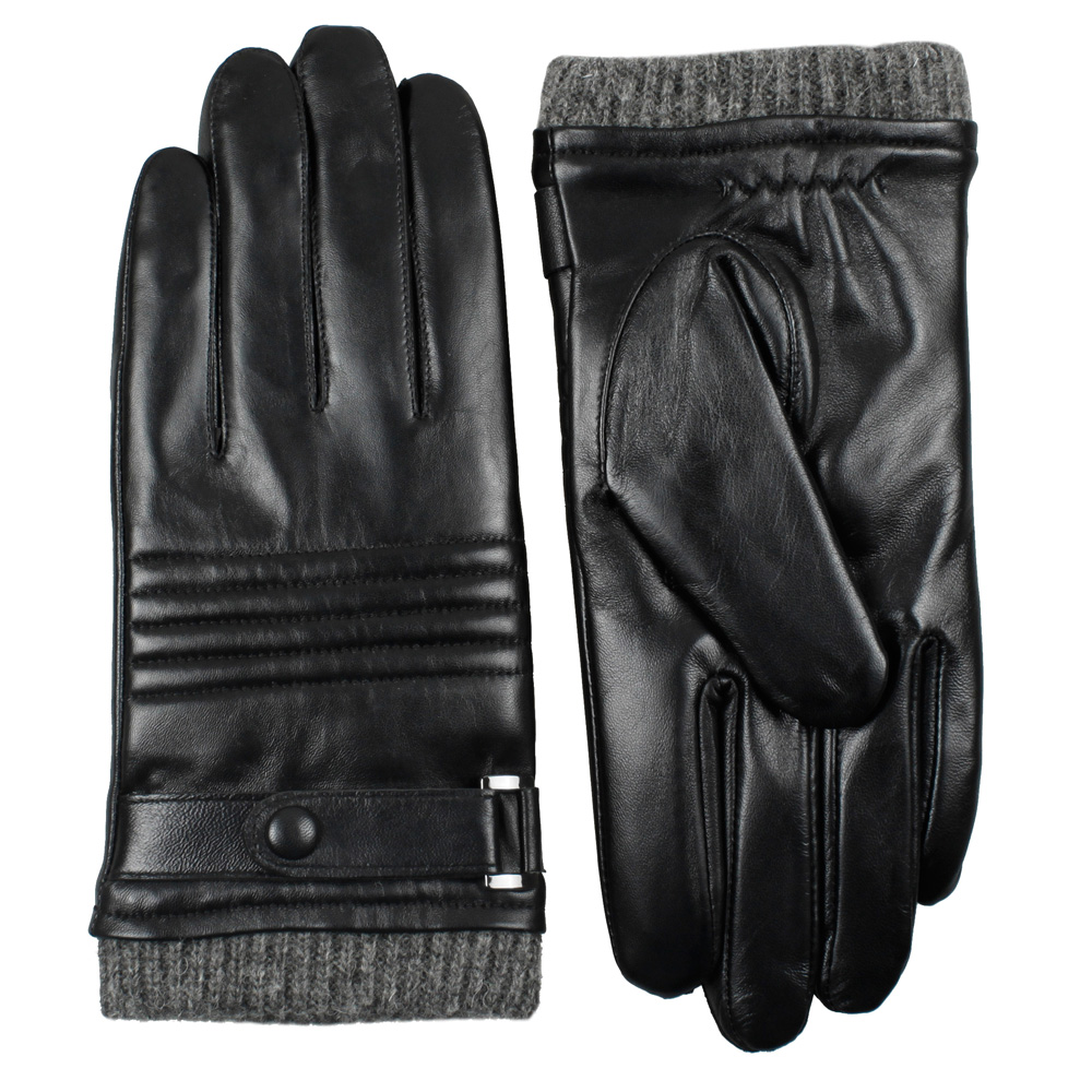 Mens winter gloves xxl - Men Leather Gloves Autumn Winter Down Warm Men Genuine Leather Gloves Touch Screen Gloves Mittens Free