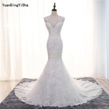 YuanDingYiSha Mermaid Wedding Dress Backless Chapel Train