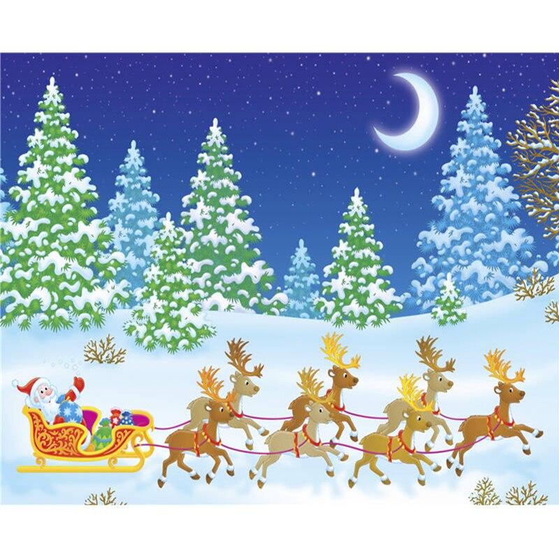 Good Li Loye Diamond Painting Santa Claus Sledding Rhinestone Picture All Round Needlework Cross Stitch Mosaic Gift Home Decor Rt520 Furniture