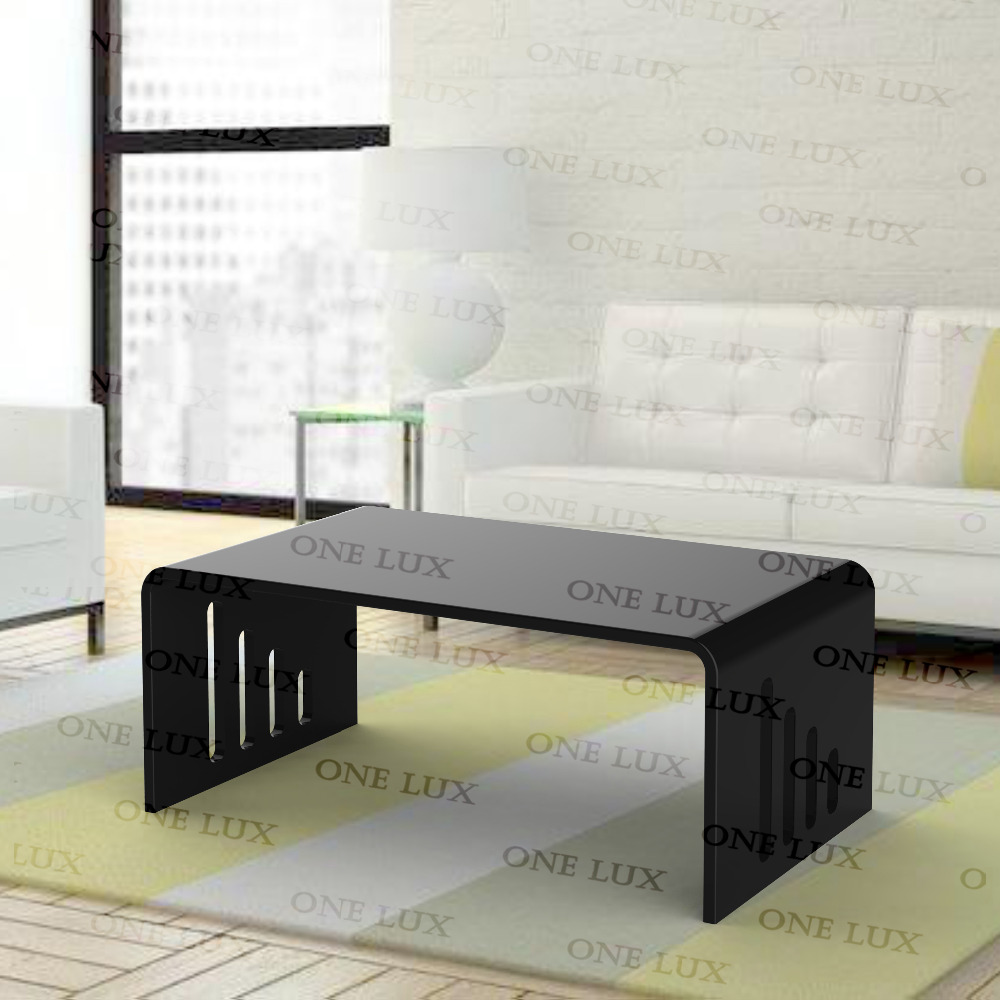 ONE LUX New Design Waterfall Acrylic Plexiglass Coffee Tea Table,Lucite  Occasional U Tables,Perspex End Corner Desk