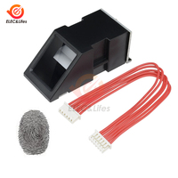 FPM10A Optische Fingerprint Reader Sensor Modul Türschloss fingerprint Scanner modul Für Arduino Serielle Kommunikation Interface-in Drucksensoren aus Werkzeug bei