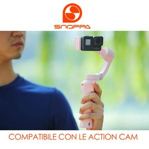 Image 5 - Snoppa Atom Foldable Pocket Sized 3 axis Smartphone Handheld Gimbal Stabilizer for GoPro Smartphones, Wireless Charging