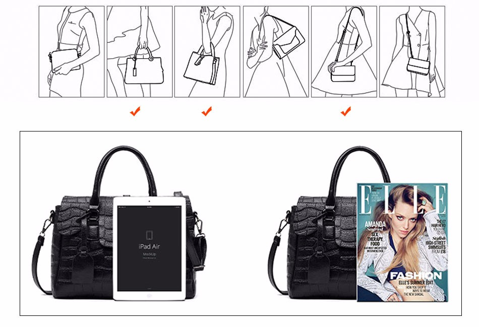 High Quality PU Leather Women's Handbags Shoulder Bag Ladies Hand Bags Stone Casual Women Bag Large Capacity Handbag 17 Sac 4