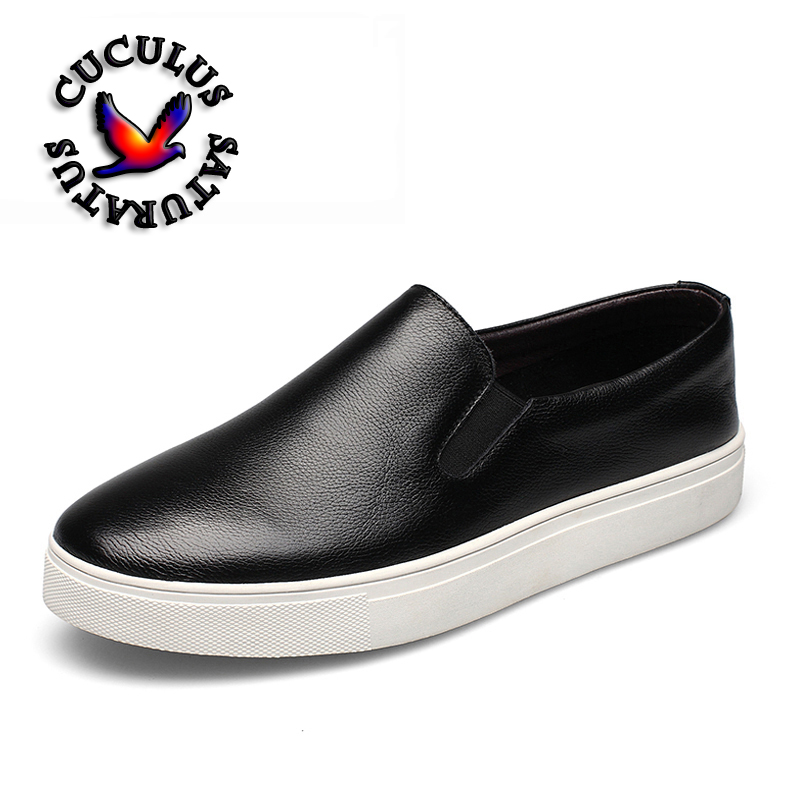 Cuculus Genuine Leather Casual Shoes New classic men shoes outdoors casual men shoes fashion breathable shoes 882370 2017 new spring imported leather men s shoes white eather shoes breathable sneaker fashion men casual shoes