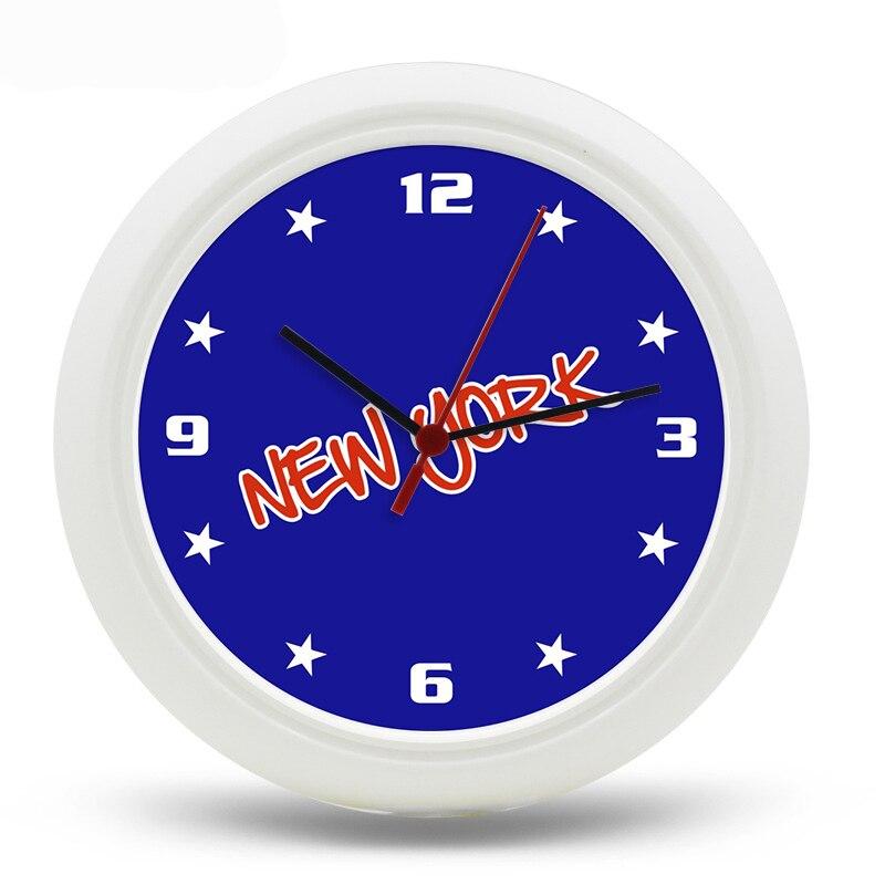 New York City Wall Clock 25cm Digital Quartz uhr Reloj de pared wanduhr 10inch Transparent USA Design Watches
