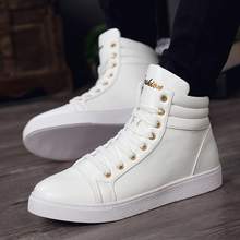 break out  men boots for men ankle boots high top lace up breathable leather boots casual men shoes