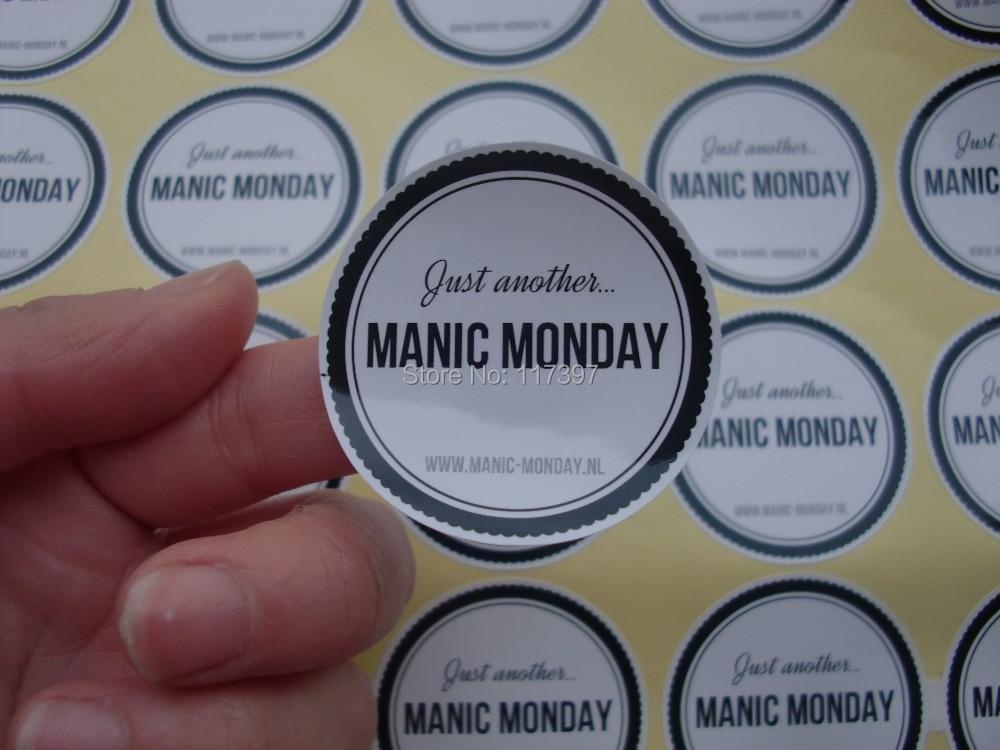 MM Custom Logo Printing White Glossy Sticker Self Adhesive - Where can i get stickers printed