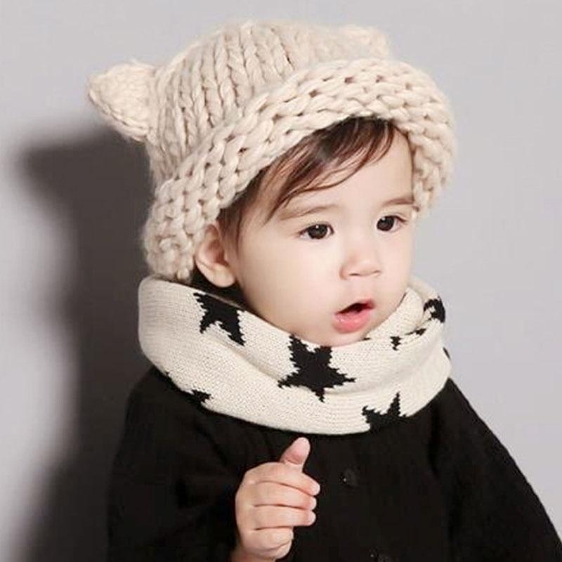 a5601ef653e Baby Boys Girls Infant Kids Cute Hat Toddler Crochet Beanie Cap Knit Autumn Winter  Warm Hat Skull Caps