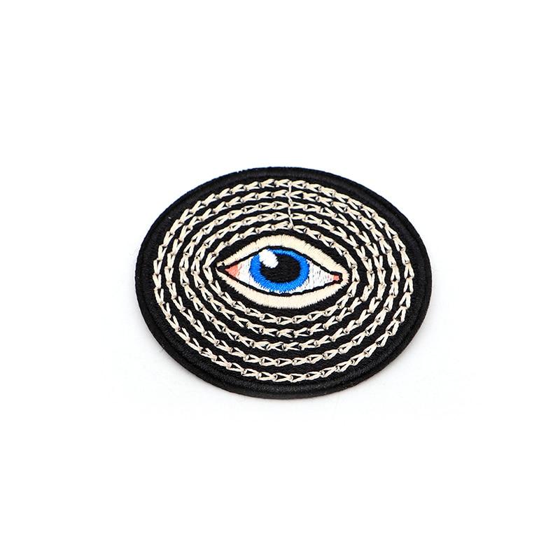 Ev ve Bahçe'ten Yamalar'de 100 adet/grup Oval Göz tanrı Nakış Yamaları Giysi Için Demir on Patch Çanta Aplike Kol Bandı Çıkartmalar Aksesuarları SC4141'da  Grup 1