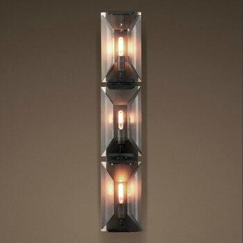 Современный прямоугольный Хрустальный светодиодный трехмерный настенный светильник для зеркала, прикроватной тумбочки для спальни, насте...
