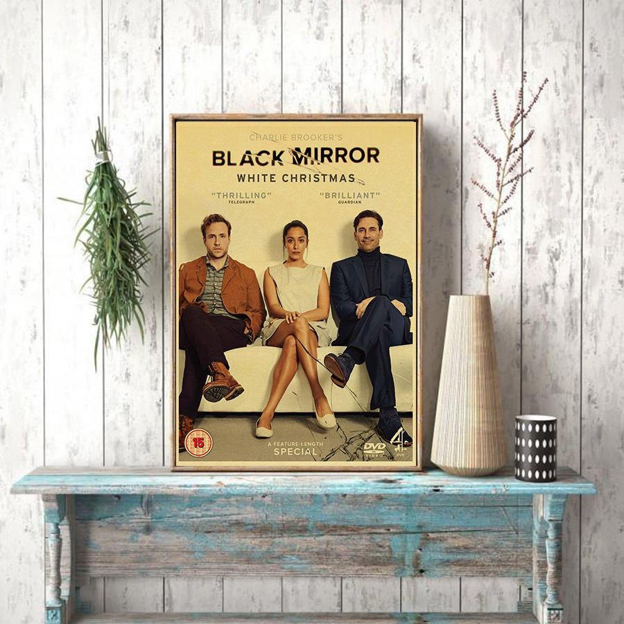 White Christmas Black Mirror Poster.Us 1 83 16 Off Black Mirror Movie Film Vintage Posters And Prints Room Decorative Art Painting Retro Wall Picture In Wall Stickers From Home