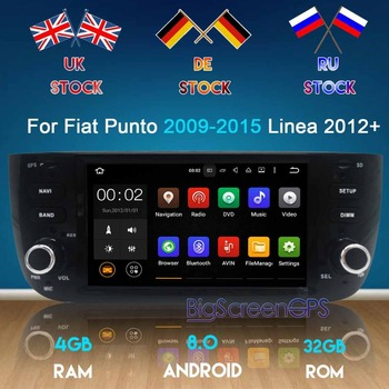 Newest Android7.1 6.0 8.0 Eight Core Car DVD Player GPS Navigation For Fiat Punto 2009-2015 Linea 2012+unit Radio Satnav Stereo