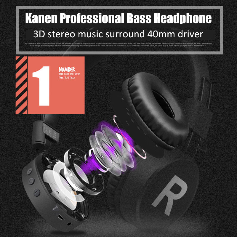 Wireless Headphone Casque Bluetooth Kulakl K High Quality Studio Bt
