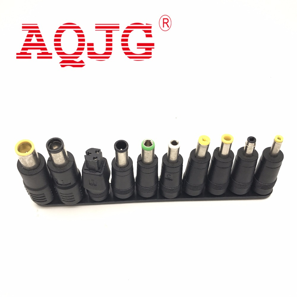 10 Tips Head Universal DC Power Charger Adapter Supply Connector Set Jack to Plug Charging for Laptop Notebook Tablets PC AQJG