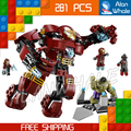 281PCS Bela SY357 superheroes Hulk Buster Smash Witch Ultron Prime Superhero Sets Building Bricks Blocks Compatible With Lego