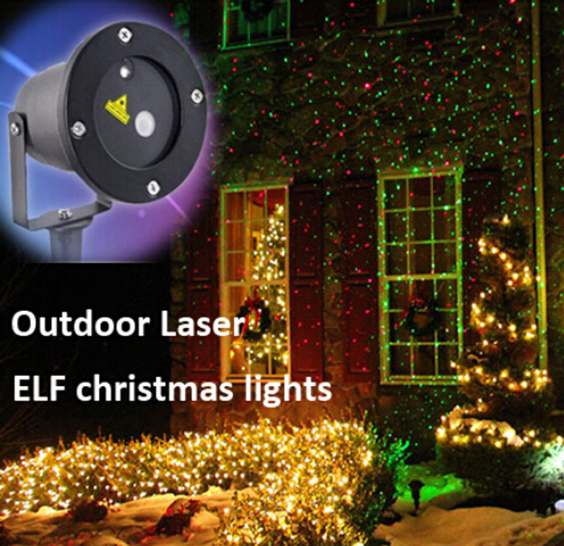 ip65 outdoor waterproof red green christmas laser projector elf christmas lights outdoor laser projector garden decoration light in lawn lamps from lights