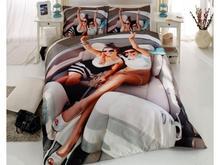 Комплект постельного белья двуспальный-евро VIRGINIA SECRET, Bamboo, девушки, 3D