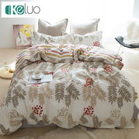 KELUO Luxury Bedding Set Duvet Cover Bedclothes Print Bedding Sets Leaves American Style