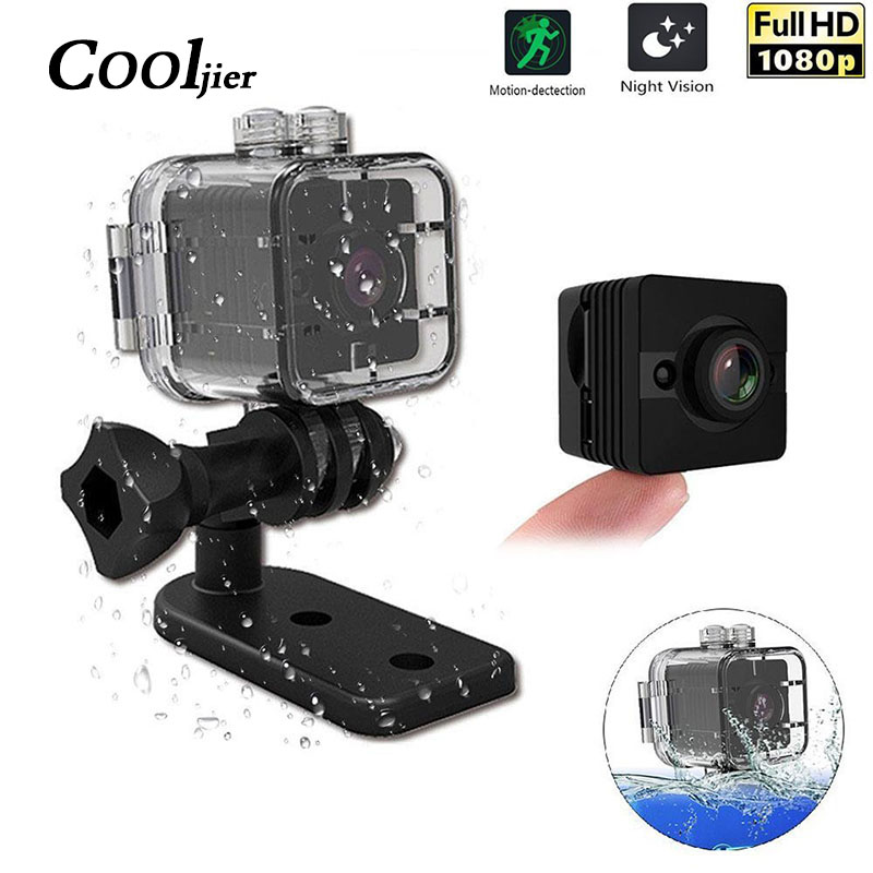 COOLJIER SQ11 Mini Caméra HD 1080 p SQ12 Sport DV Infrarouge de Vision Nocturne Moniteur Caché petite Caméra DVR micro Caméscope