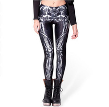 AmberHeard Women Leggings 2017 High Quality Digital Printing Mechanical Bones Sporting Leggins Legging Joggers Fitness Pants