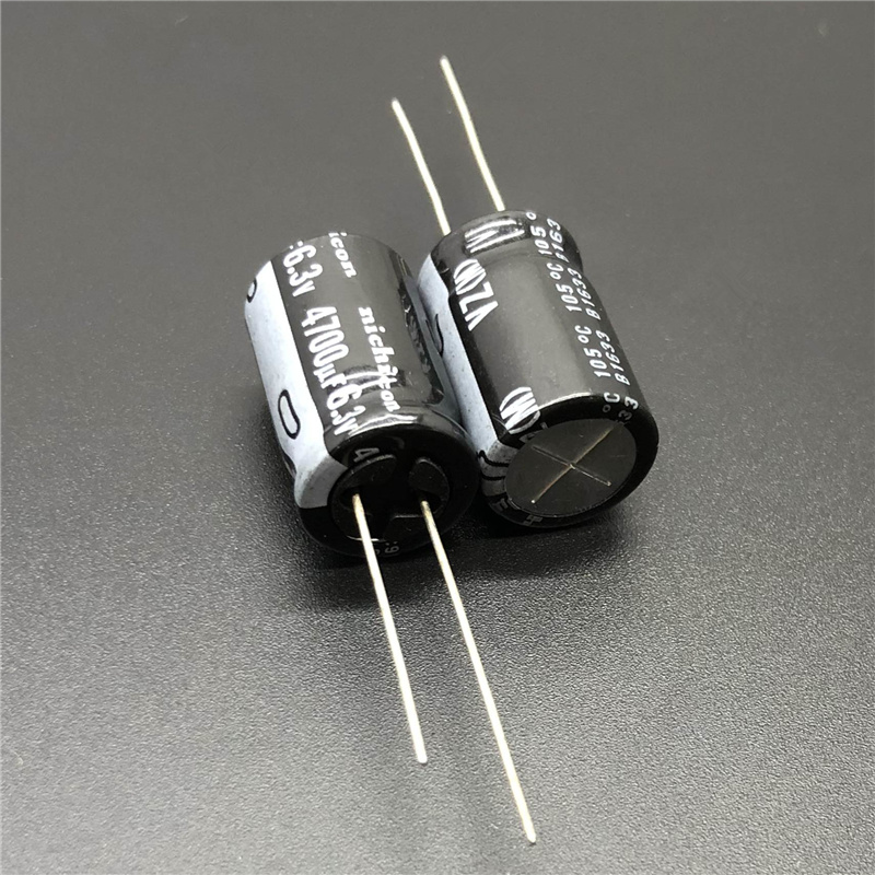 5pcs/50pcs 4700uF 6.3V4700uF NICHICON VZ Series 12.5x20mm Wide Temperature Range Aluminum Electrolytic Capacitor Long Feet