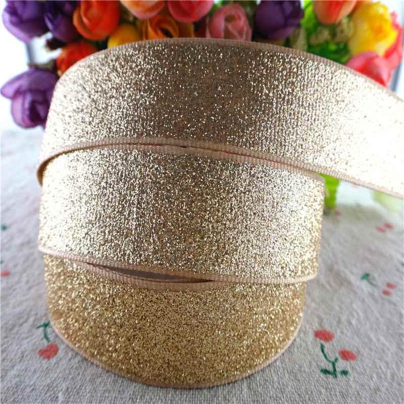 """18112401, 1.5 """"38 millimetri 10 yards glitter foil stampato del grosgrain nastri confezione regalo FAI DA TE materiali realizzati a mano"""