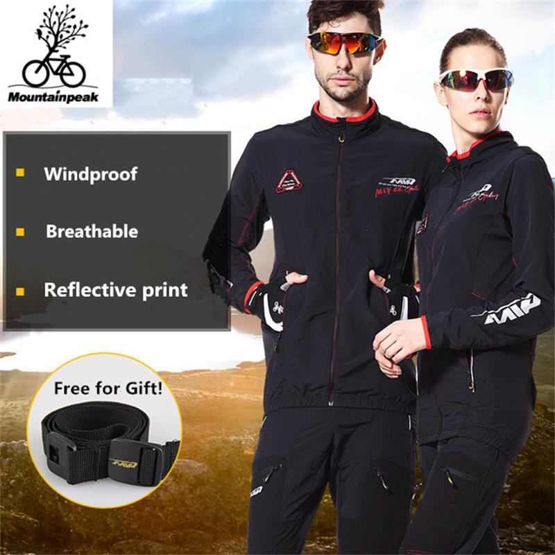 Men Women Cycling Sets Riding Windbreaker Suit Hiking Softshell Set Climbing Windbreaker Suit Windproof UV-Protect Size S-3XL
