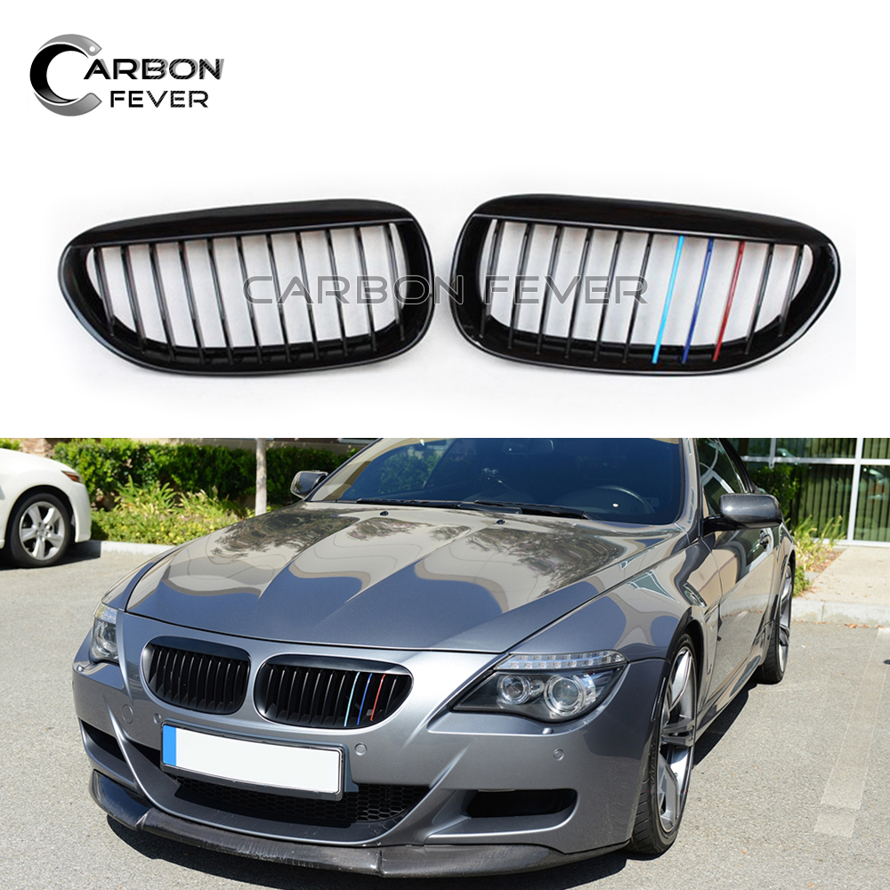 E63 E64 Replacement Front Bumper Kidney Grille Mesh For BMW 6 Series 2 door Model 2005 2010 630i 650i