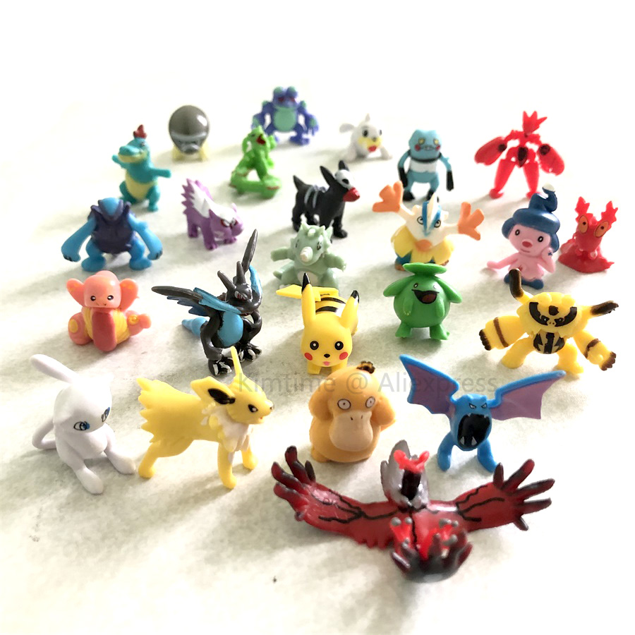 192 different styles 24 pieces /bag new collection dolls action toy pokemones figures model  2.5cm-3cm small size192 different styles 24 pieces /bag new collection dolls action toy pokemones figures model  2.5cm-3cm small size