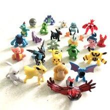Figuras de acción de Pokémon, 192 piezas diferentes, modelo de figura de juguete de 2,5 cm 3cm, juguetes de dibujos animados de tamaño pequeño
