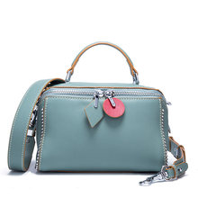 f0ba77dbdd 2018 Luxury Designer Women Pillow Bag Handbags Genuine Leather Ladies  Shoulder Bag Wide Strap Female Crossbody