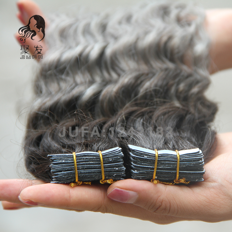 Ombre Tape In Human Hair Extensions 7A Deep Curly Virgin