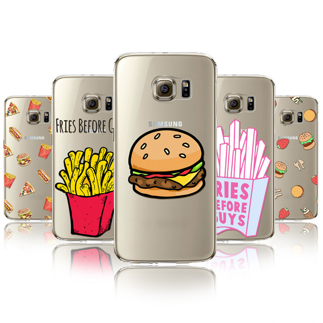 4715d8426bb Moda Fries before Guys funda para Samsung Galaxy s7edge silicio hamburguesa  patatas fritas patrón celular Fundas