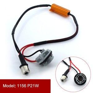 2 PCS Auto LED Schalten Singal Last Widerstand 1156 BA15S PY21W 1157 BAY15D 7440 7443 50 W Canbus Fehler Freies verdrahtung Canceller Decoder