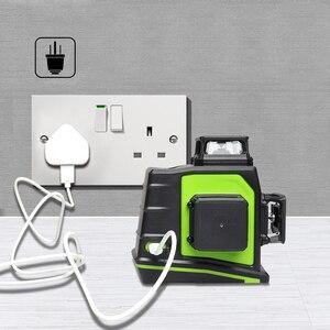 Image 4 - Huepar niveau Laser 3D vert 12 lignes croisées nivellement automatique, projection à 360 degrés et recharge sur prise USB