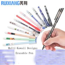 12pcs/lot Multi Kawaii Frixion School Office Erasable Gel Ink Pen 0.5mm Crystal Blue Black Smooth Writing Nuetral Mosuca Gelpen