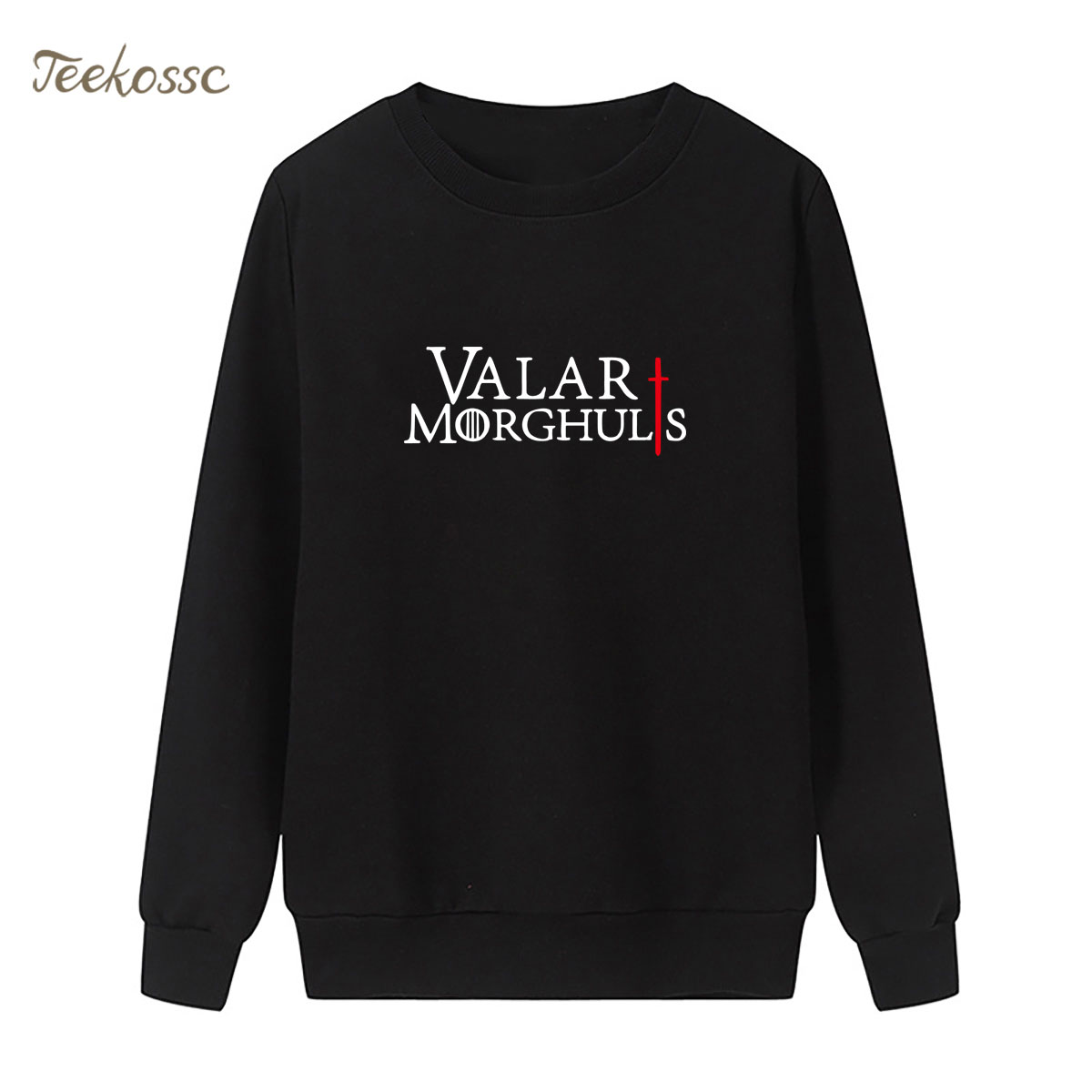 Game Of Thrones Sweatshirt Valar Morghulis Khalessi Print Hoodie Winter Autumn Women Lasdies Pullover Loose Fleece Streetwear