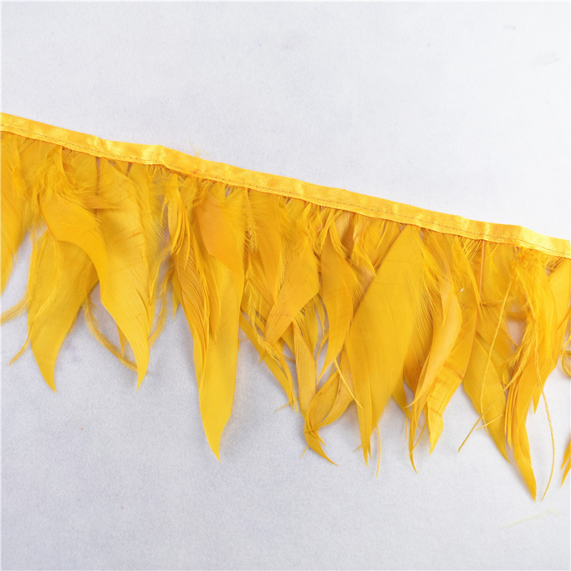 10meters ostrich feathers goose feathers ribbonTrims feather for crafts  carnival costume feather DIY wedding decoration Plumes-in Feather from Home & Garden    2