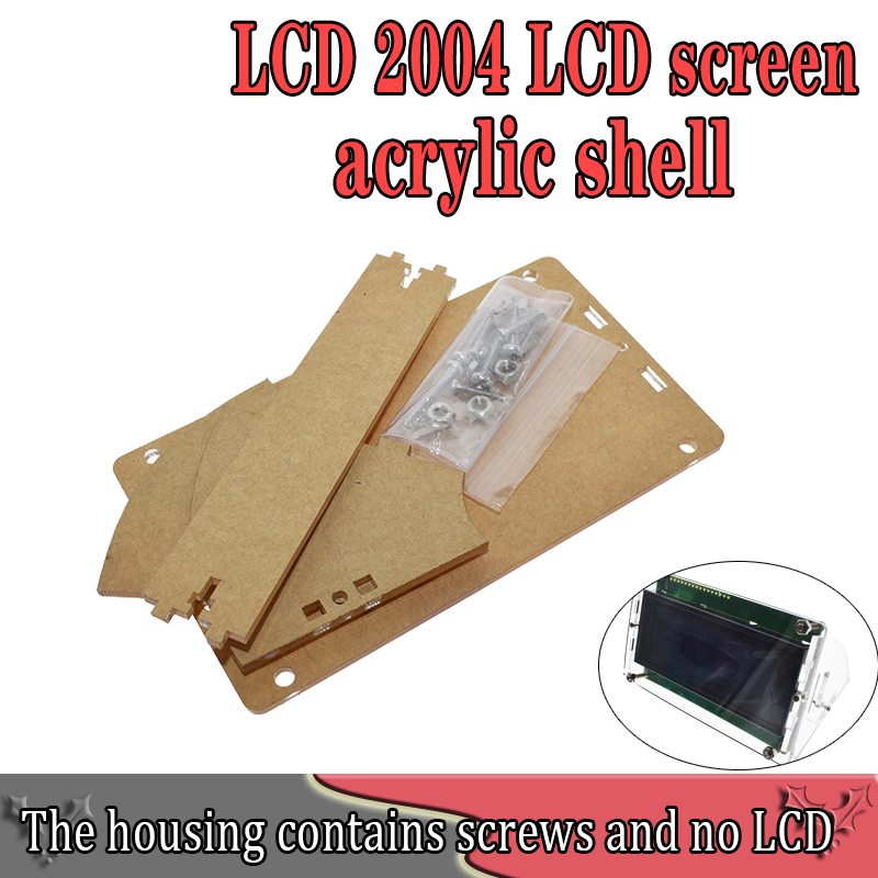 Transparent Acrylic Shell For LCD2004 LCD Screen With Screw/Nut LCD2004 Shell Case Holder (no With 2004 LCD)