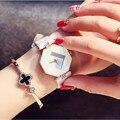 Reloj Mujer Moda Mulheres de Aço Inoxidável Relógios de Quartzo de couro Ocasional Das Mulheres de Diamante Relógios de Luxo Lady Relógio Frete Grátis
