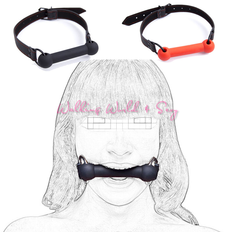 Silicone Dog Bone Ball Gag Oral Sex Open Mouth Gag Fetish Bondage Slave Gag Restraint Mouth Plug Adult Game Sex Toys For Couples цена 2017