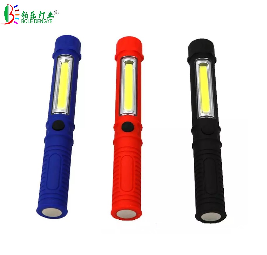 Portable Mini Pen Light Working Inspection light COB LED Multifunction Maintenance flashlight Hand Torch lamp With Magnet ...