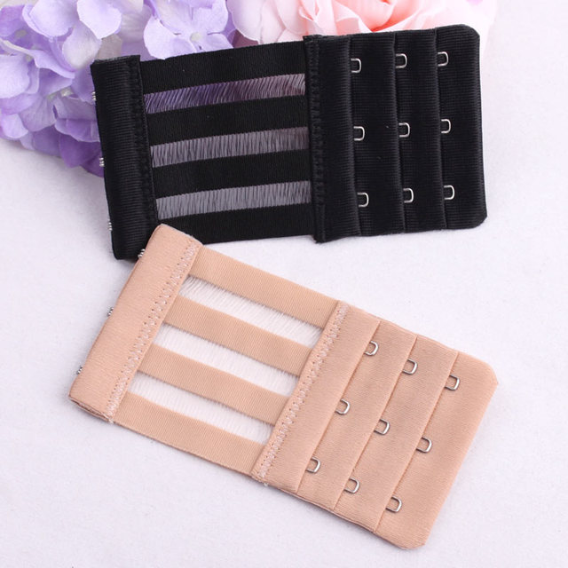 5edb76874b Elastic Buckle Extended 4 Hooks Clasp Bust Extender Clasp For Bra Extension  Bra 3 Hook And