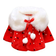 0~2Years Old Baby Girls Infant Cotton Winter Warm Coat Cloak Jacket Thick Warm Clothes Red/Pink Color j2(China)