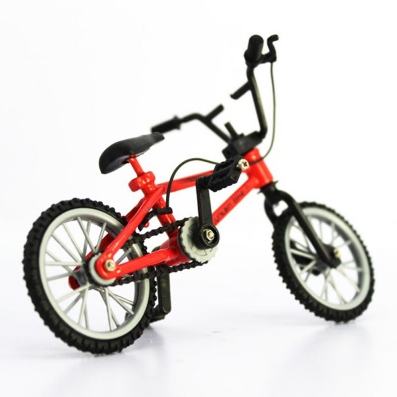 Mini Finger Bmx Toys Mountain Bike BMX Fixie Bicycle Finger Scooter Toy Creative Game Suit Children Grownup Random Color